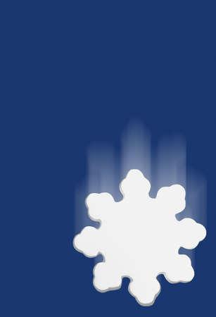 darren greenwood: Stylized snowflake falling with blue background