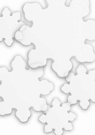 darren greenwood: Stylized snowflakes with white background Stock Photo