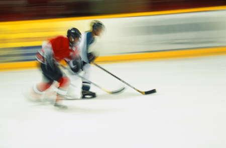 Ice hockeyspelers Stockfoto