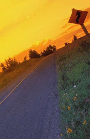 carson ganci: Winding Road,Red Rock Canyon,Waterton Lakes National Park, Alberta, Canada