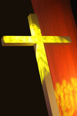 Cross with bright light