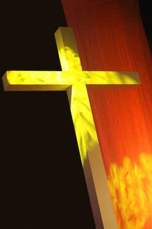 don hammond: Cross with bright light