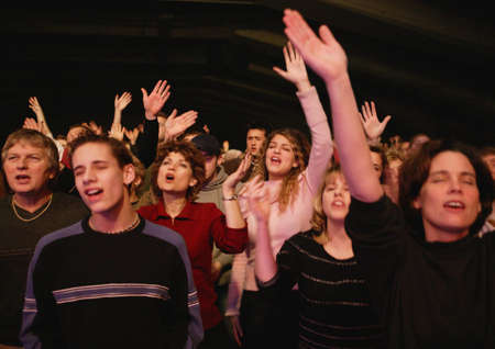 Group worshipping Stock Photo - 8242707