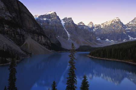 Moraine Lake and Wenkchemna Range Banff National Park Alberta, Canada Stock Photo - 8243321
