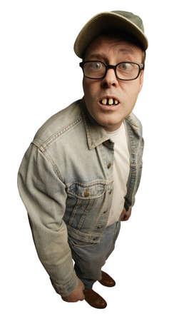 Man met buck tanden