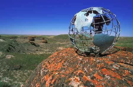 Globe overlooking valley