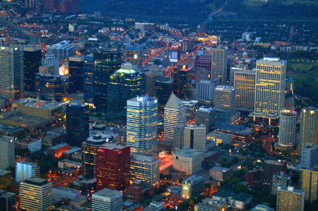 A view of downtown Stock Photo