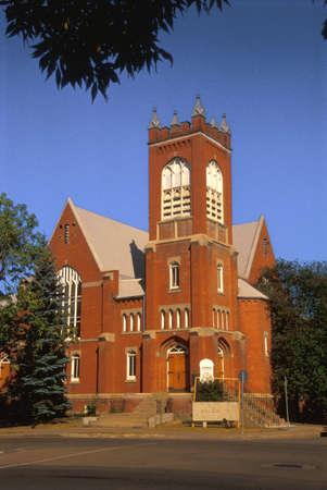 corey hochachka: A red brick church