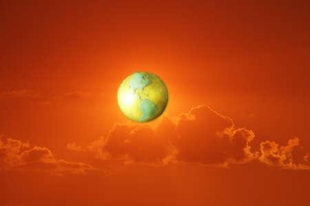 Globe in the sky