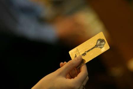 Holding a card key