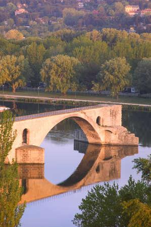 carson ganci: Avignon from Rhone River Provence France