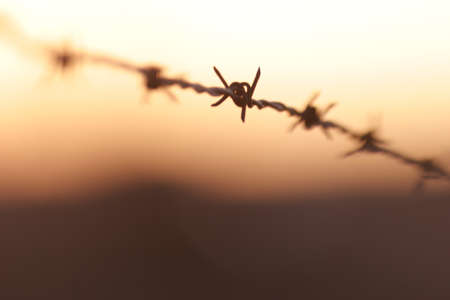 Closeup of a wire fence