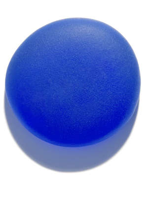 sandblasted: Blue round object