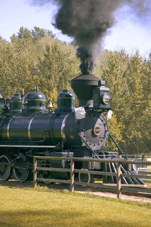 carson ganci: Steam train Stock Photo