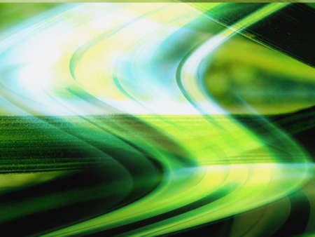 twirling: Bright green and turquoise computer generated design