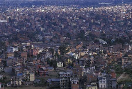 Overcrowded city Standard-Bild