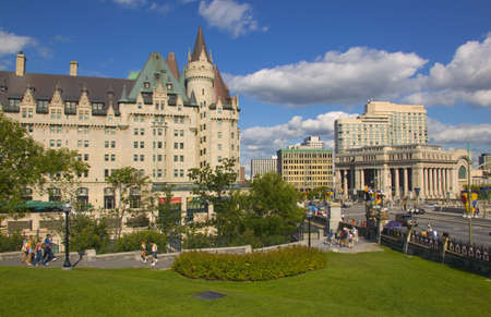 alan: View from Parliament Hill, Ottawa, Ontario Stock Photo