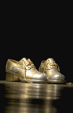 glitzy: Pair of platform shoes