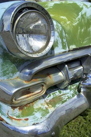 rusty car: Rusty old classic car Stock Photo