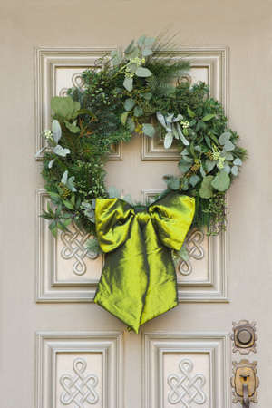 A Christmas wreath photo