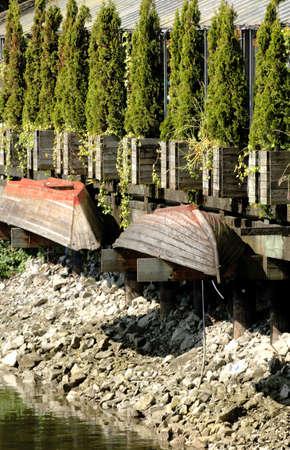 rowboats: Old rowboats