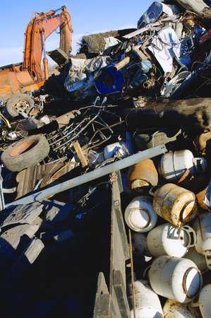 At a dump Foto de archivo