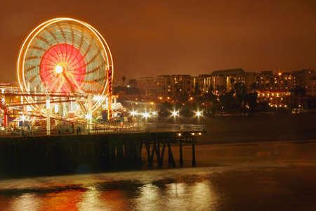 leah: Ferris wheel at night Stock Photo