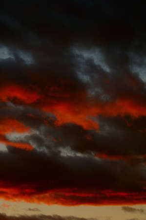 muz: Dark clouds at sunset