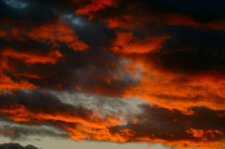 muz: Clouds at sunset Stock Photo