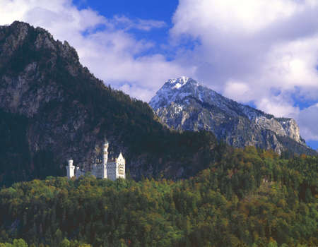 Neuschwannstein, fairytale castle built by Mad King Ludwig of Bavaria photo