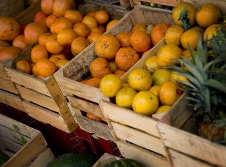 darren greenwood: Fresh fruit in the market Stock Photo