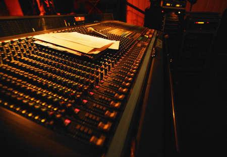 recording studio: Mixing Sound Board Stock Photo