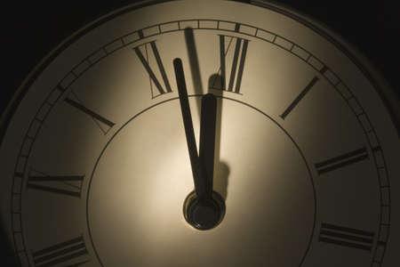 darren: Close-up of a wall clock
