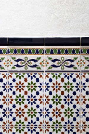 Spanish ceramic tiles Archivio Fotografico