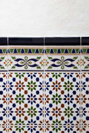 Spanish ceramic tiles Stock Photo