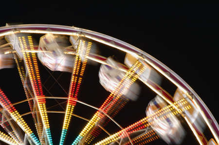 Amusement park ride blurred Stock Photo