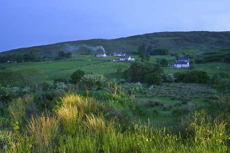 Hillside huizen Stockfoto