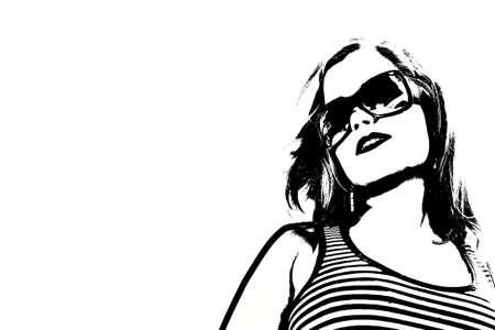 tanktop: Woman in sunglasses