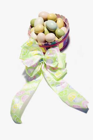 darren greenwood: Easter eggs in a basket