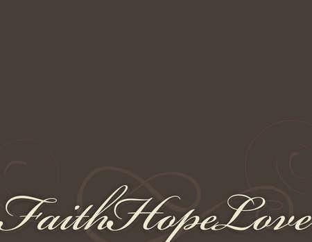 ethic: Sfondo di fede, speranza e amore