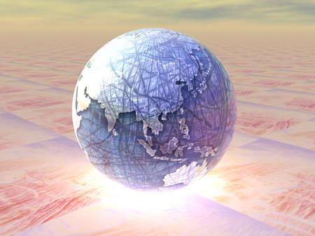 eye  traveller: 3D Globe Stock Photo