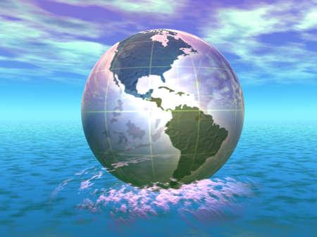 3D Globe Stock Photo