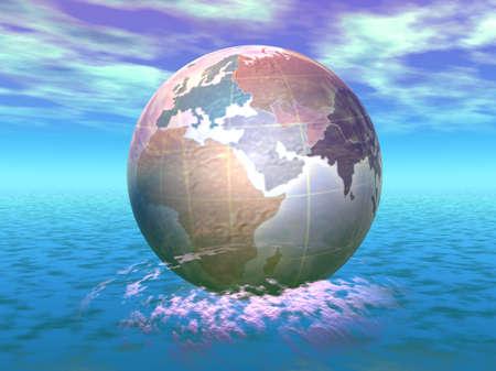 3D Globe Stock Photo - 8241679