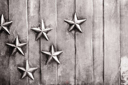 knorr: Stars mounted on a vertically lined background Stock Photo