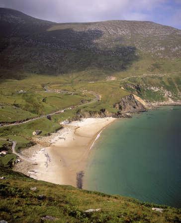 achill: Keem Bay at Achill Island in Ireland Stock Photo