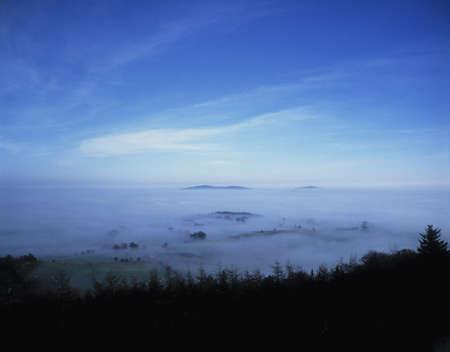 co  meath: Mist, near Loughcrew, Co Meath, Ireland Stock Photo