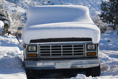 snowcovered: Snow-covered truck