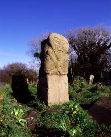 Janus Stone, Boa Island, Co. Fermanagh, Ireland Stock Photo - 8243721
