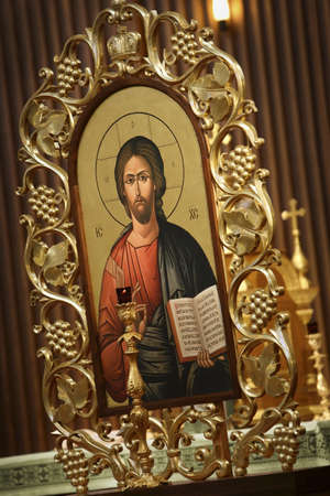 warkentin: Picture of Jesus with gold frame