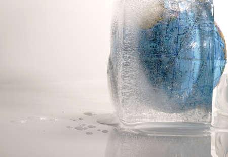 Globe encased in ice photo